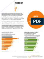 Thomson Reuters Data Privacy Compliance Survey - Jan 2018