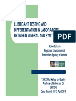 Lubricant Testing and Differentiation