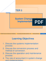 Topic 5 - System Change and Implementation (2)
