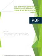 Aplicaciones de Integrales Definidas en El Proyecto Minero Power Point