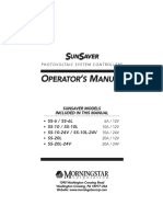 Sunsaver - Operation Manual