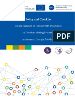 Model Policy and Checklist