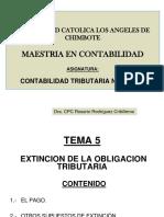 Clases-tema-5 Extincion de La Obligacion Tributaria