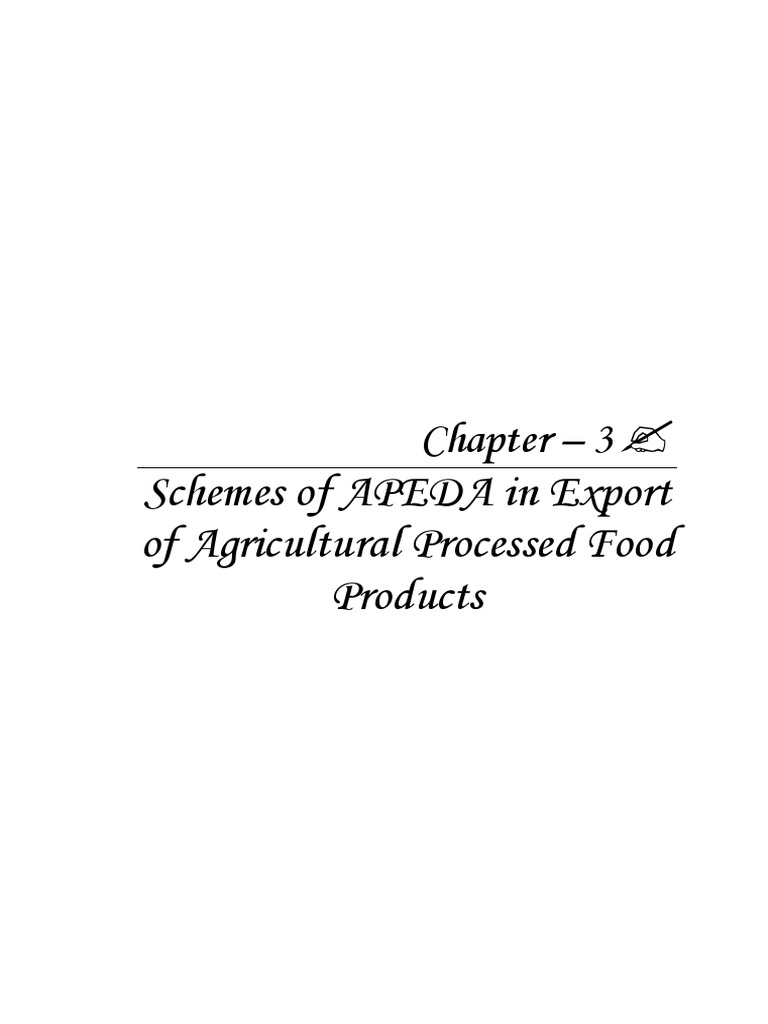 APEDA in Export of Agricultural Processed Food Products