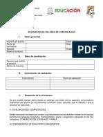 Estructura Del Informe Del Áre de Comunicación