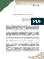 Propiedad de La Tierra en Sudamérica