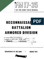 FM17-35 Reconnaissance Battalion Armored Division 1951