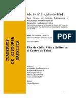 San Francisco Et Al - 2009 - Flor de Chile. Vida y Salitre en El Cantón de Taltal.