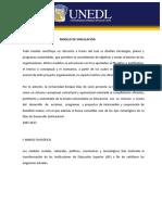 Modelo de Vinculacion y Su Reglamento