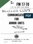 FM17-70 Communication for Armor Units 1960