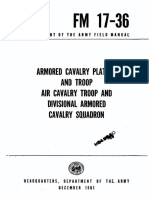 FM17-36 Armored Cavalry Platoon and Troop Air Cavalry Troop and Divisional Armored Cavalry Squadron