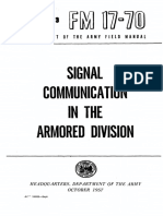 FM17-70 Signal Communication in the Armored Division 1957