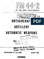 Fm42-42 Antiaircraft Artillery Automatic Weapons 1950