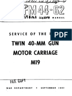 FM44-62 Twin 40-MM Gun Motor Carriage M19