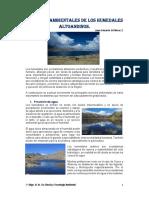 Humedales - Servicios Ambientales Proporcionados