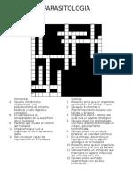 Crucigrama parasitología