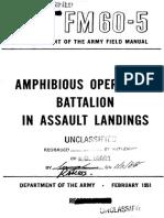 FM60-5 Amphibious Operations Battalion in Assault Landings 1951