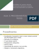 Aula 3 - Procedimentos Para Os Testes