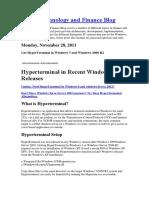 Hyper Terminal