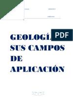 Geologia y Sus Campos de Aplicacion