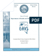 Community-Based Living Arrangement Homes Investigation Report - January 26, 2018