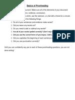 Basics of Proofreading