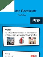 american revolution vocabulary pp