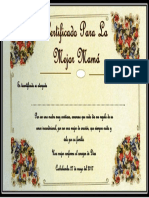 Certificado Para Las Mamas