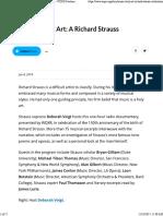 Music is a Holy Art a Richard Strauss Celebration - WQXR Features - WQXR
