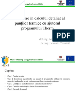 Introducere in Calculul Detaliat Al Puntilor Termice Cu Ajutorul Programului THERM