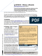 IGF2010 - Social Reporting Flyer
