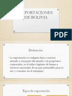 Importaciones y exportaciones de Bolivia