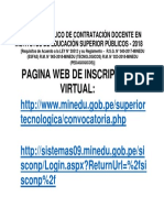 Convocatoria Web 2018
