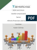 Historia Financiera Del Ecuador