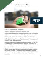 25/01/2018 Se consolida mercado hipotecario en México