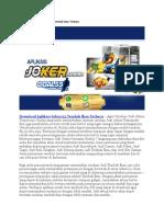 Download Aplikasi Joker123 Tembak Ikan Terbaru