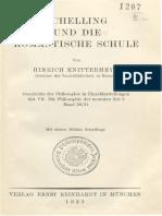 Knittermeyer, H. - Schelling Und Die Romantische