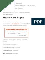 Helado de Higos _ Postres Faciles y Rapidos