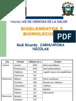 BIOELEMENTOS-BIOMOLECULAS
