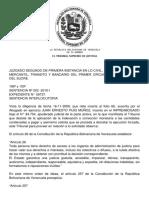 TUTELA JUDICIAL - Tsj Regiones Decision 12