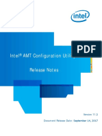 Intel(R) AMT Configuration Utility Release Notes
