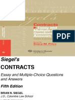 CON Siegel's Contracts_ Essay and Multiple - Brian N. Siegel