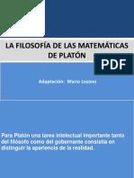 La Filosofía de Las Matemáticas de Platón