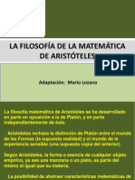La Filosofía de Las Matemáticas de Aristóteles