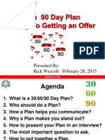30 60 90 Day Plan for New Job PPT Free Download