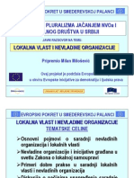 """Prezentacija uz izlaganje na temu """"Lokalna vlast i nevladine organizacije"""""""