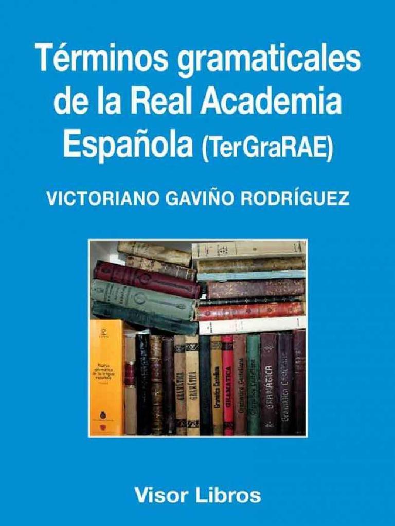 Terminos Gaviño Rodríguez Victoriano La Gramaticales De Real CrsdthQ