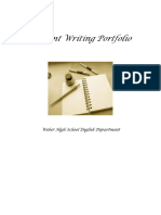 Student Writing Portfolio 2013 14