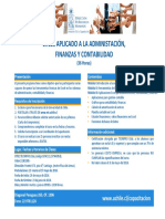 Programa Excel Aplicado a La Administracion y Finanzas PDF 195 Kb