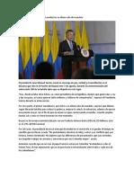 Presidente Santos Invita a La Unidad en Su Último Año de Mandato